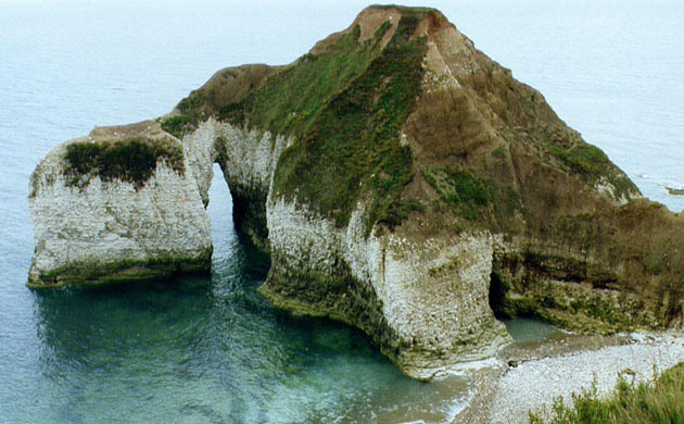 Sea arch at Flamborough Head. © Jonathan Larwood, NE